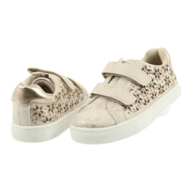 Buty sportowe buty dziecięce kwiaty American Club złoty 4