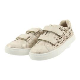 Buty sportowe buty dziecięce kwiaty American Club złoty 3