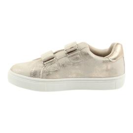Buty sportowe buty dziecięce kwiaty American Club złoty 2