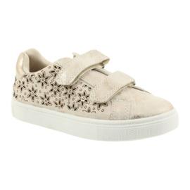 Buty sportowe buty dziecięce kwiaty American Club złoty 1