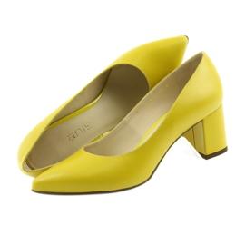 Czółenka buty damskie Anis musztardowe wielokolorowe 5