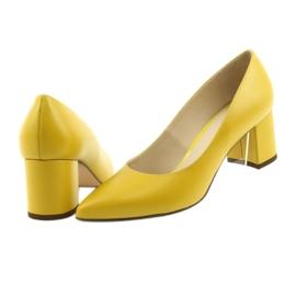 Czółenka buty damskie Anis musztardowe wielokolorowe 4