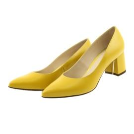 Czółenka buty damskie Anis musztardowe wielokolorowe 3