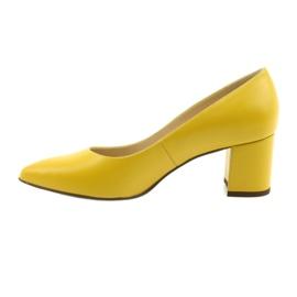 Czółenka buty damskie Anis musztardowe wielokolorowe 2