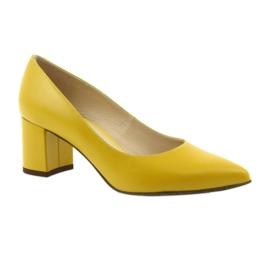 Czółenka buty damskie Anis musztardowe wielokolorowe 1