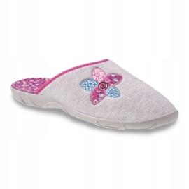 Befado kolorowe obuwie damskie 235D155 fioletowe szare 1