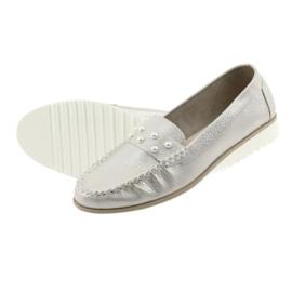 Sergio Leone Mokasyny buty damskie beż perła beżowy 5