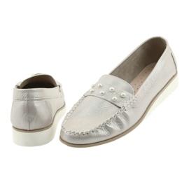 Sergio Leone Mokasyny buty damskie beż perła beżowy 4