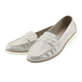 Sergio Leone Mokasyny buty damskie beż perła beżowy 3