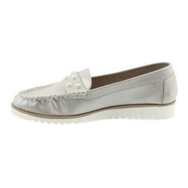 Sergio Leone Mokasyny buty damskie beż perła beżowy 2