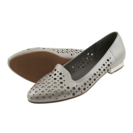 Daszyński Lordsy buty damskie stylowe ażurowe 151 brązowe 5