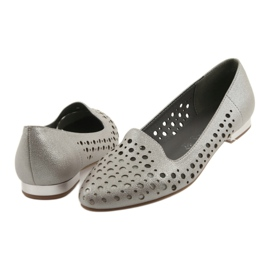 Daszyński Lordsy buty damskie stylowe ażurowe 151 brązowe 4