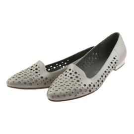 Daszyński Lordsy buty damskie stylowe ażurowe 151 brązowe 3