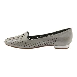 Daszyński Lordsy buty damskie stylowe ażurowe 151 brązowe 2