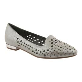 Daszyński Lordsy buty damskie stylowe ażurowe 151 brązowe 1