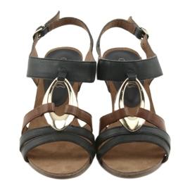 Caprice sandały damskie złoty owal 6