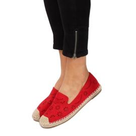 Espadryle ażurowe czerwone 9023 Red 3