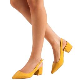 Nio Nio Musztardowe Czółenka W Szpic żółte 1