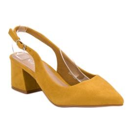 Nio Nio Musztardowe Czółenka W Szpic żółte 2