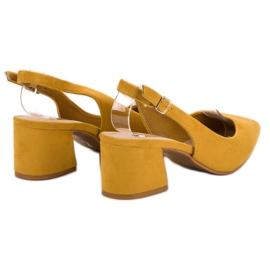 Nio Nio Musztardowe Czółenka W Szpic żółte 4