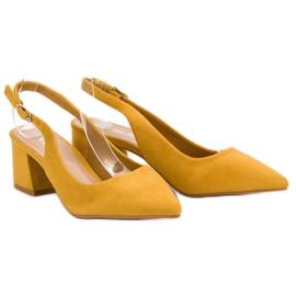 Nio Nio Musztardowe Czółenka W Szpic żółte 5