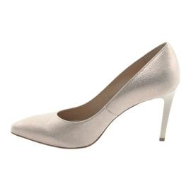 Czółenka buty damskie skórzane złote Anis 4527 złoty 2