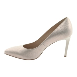 Czółenka buty damskie skórzane złote Anis 4527 żółte 2