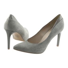 Czółenka na szpilce buty damskie ANIS szare 4