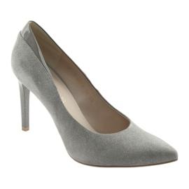 Czółenka na szpilce buty damskie ANIS szare 1