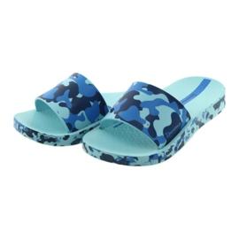 Klapki dziecięce moro niebieskie Ipanema 26325 granatowe 3