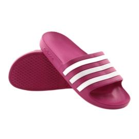 Klapki adidas Adilette Aqua F35536 białe różowe 4