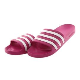 Klapki adidas Adilette Aqua F35536 białe różowe 3