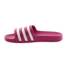 Klapki adidas Adilette Aqua F35536 białe różowe 2