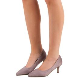 Ideal Shoes Wygodne Czółenka Na Szpilce fioletowe 1
