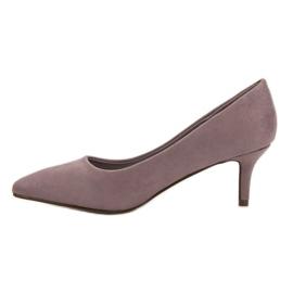Ideal Shoes Wygodne Czółenka Na Szpilce fioletowe 3