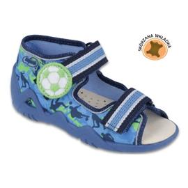 Befado żółte obuwie dziecięce 350P002 niebieskie zielone 1