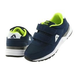 Buty sportowe wkładka skórzana American Club BS09 granatowe zielone 5