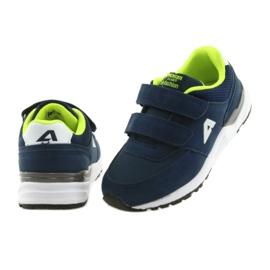 Buty sportowe wkładka skórzana American Club BS09 granatowe zielone 4