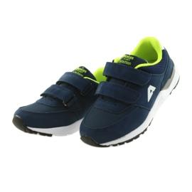 Buty sportowe wkładka skórzana American Club BS09 granatowe zielone 3