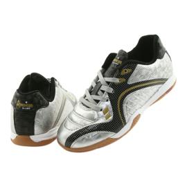 Halówki Sportowe American Club OG13 Silver czarne szare żółte 4