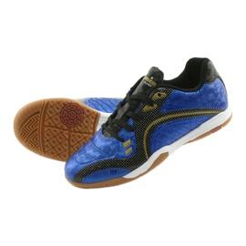 Halówki Sportowe American Club OG13 Royal czarne niebieskie żółte 5