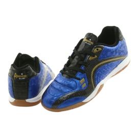 Halówki Sportowe American Club OG13 Royal czarne niebieskie żółte 4