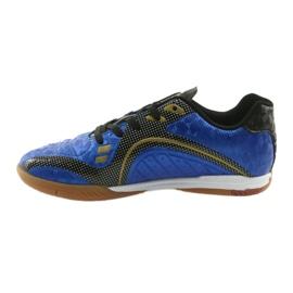 Halówki Sportowe American Club OG13 Royal czarne niebieskie żółte 2