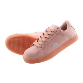 Buty sportowe American Club BS07 wkładka skórzana różowe 5