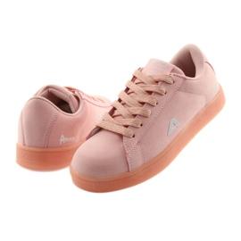 Buty sportowe American Club BS07 wkładka skórzana różowe 4