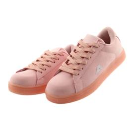 Buty sportowe American Club BS07 wkładka skórzana różowe 3
