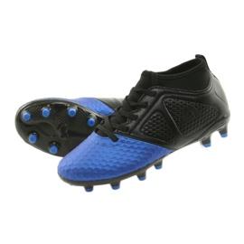 Sportowe korki chłopięce American Club OG23 Royal/Black niebieskie 5
