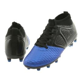 Sportowe korki chłopięce American Club OG23 Royal/Black niebieskie 4