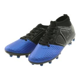 Sportowe korki chłopięce American Club OG23 Royal/Black niebieskie 3