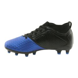 Sportowe korki chłopięce American Club OG23 Royal/Black niebieskie 2